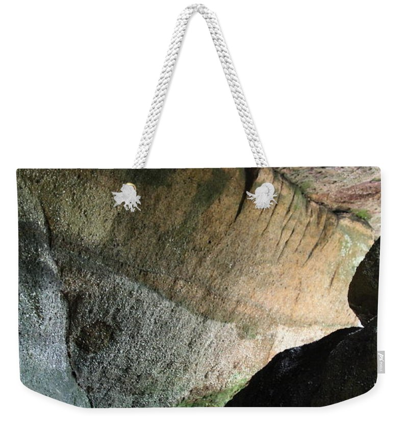 Stone Weekender Tote Bag featuring the photograph Dove In Flight by Amanda Barcon