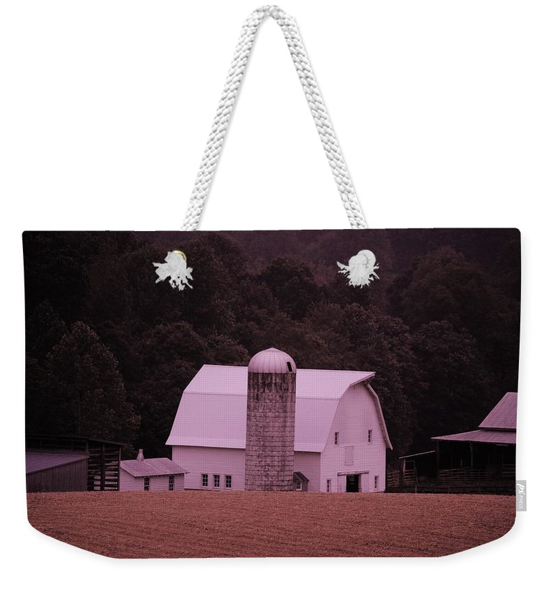 Barn Weekender Tote Bag featuring the photograph Down On The Farm by Eric Liller