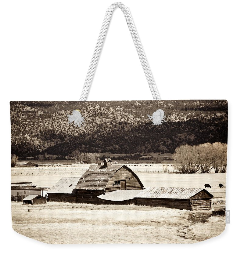 Americana Weekender Tote Bag featuring the photograph Down On The Farm by Marilyn Hunt