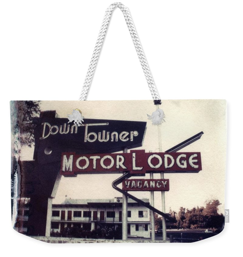 Landscape Weekender Tote Bag featuring the photograph Down Towner by Jane Linders