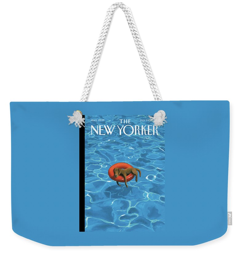 Downtime Weekender Tote Bag featuring the drawing Downtime by Mark Ulriksen