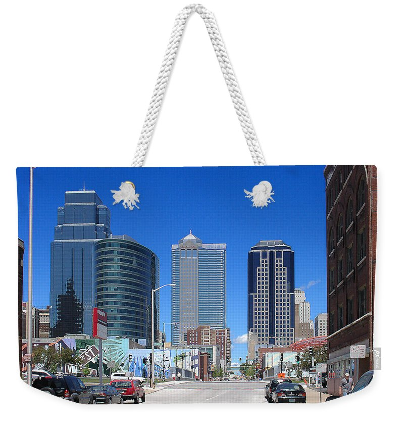 City Weekender Tote Bag featuring the photograph Downtown Kansas City by Steve Karol