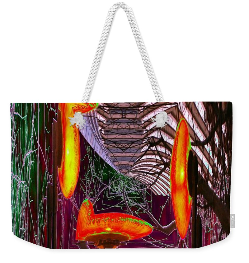 Seattle Weekender Tote Bag featuring the photograph Downtown Light Warp by Tim Allen