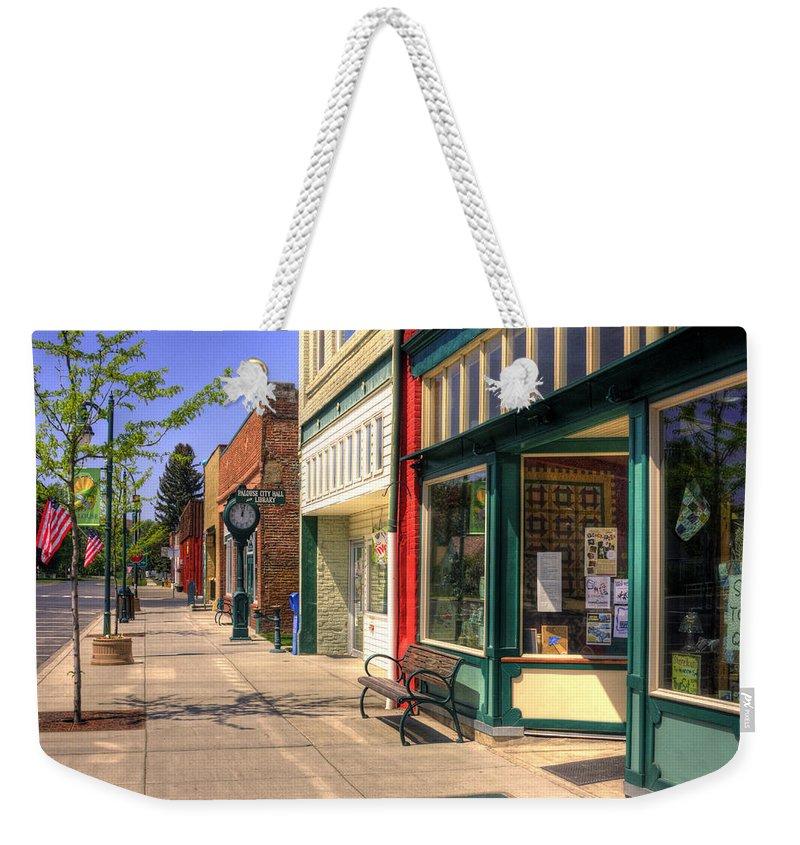 Palouse Weekender Tote Bag featuring the photograph Downtown Palouse Washington by Lee Santa