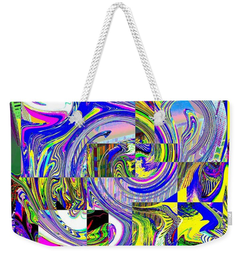 Abstract Weekender Tote Bag featuring the photograph Downtown Tango by Tim Allen