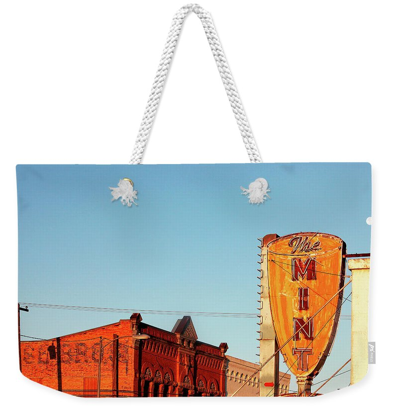 Horizontal Weekender Tote Bag featuring the photograph Downtown White Sulphur Springs by Todd Klassy