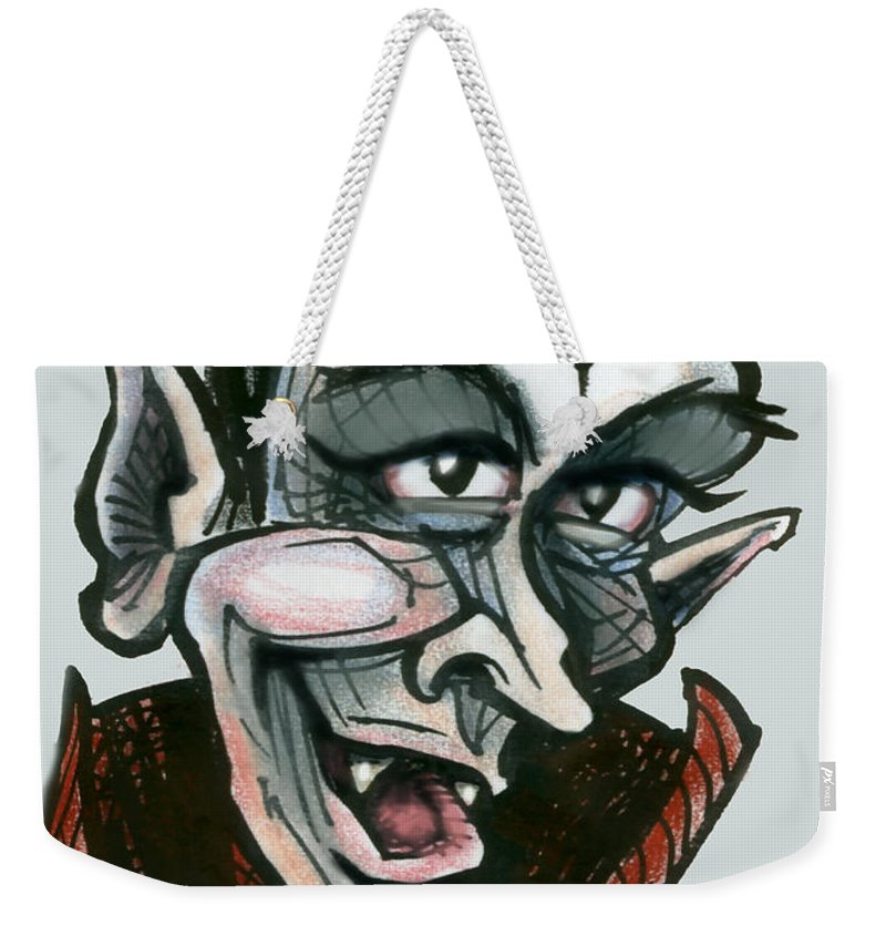 Dracula Weekender Tote Bag featuring the greeting card Dracula by Kevin Middleton