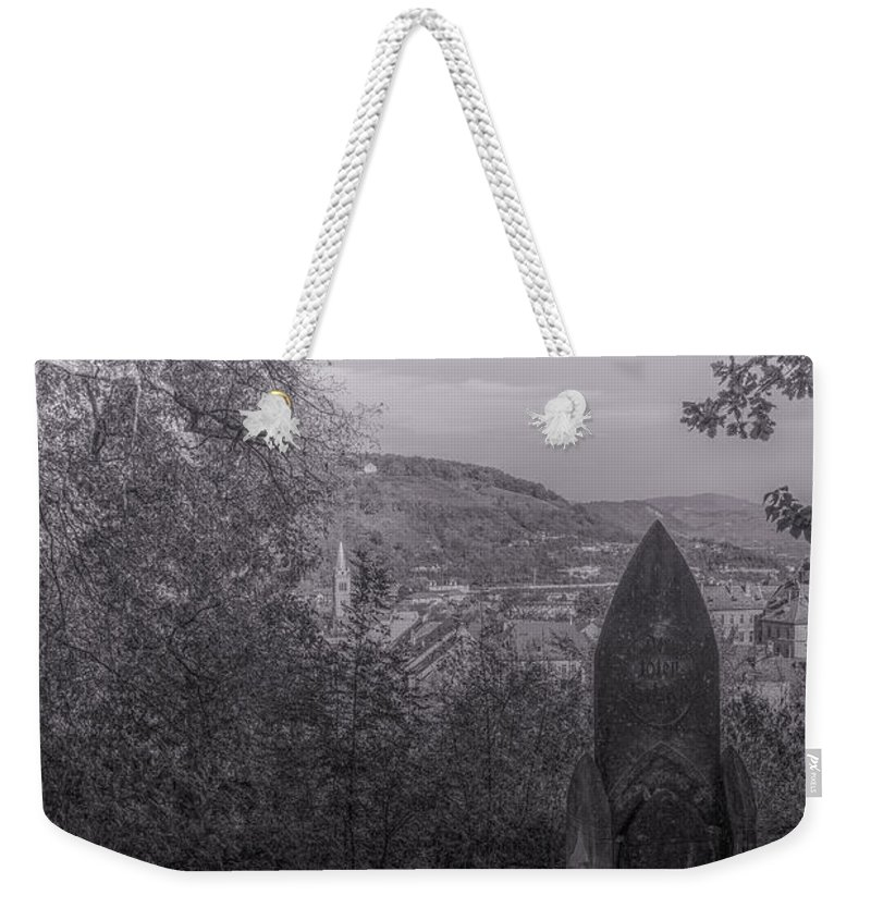 Sighisoara Weekender Tote Bag featuring the photograph Dracula's Hill by Stephen Settles