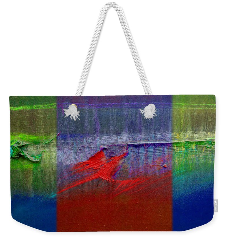 Landscape Weekender Tote Bag featuring the painting Dragon Coast by Charles Stuart
