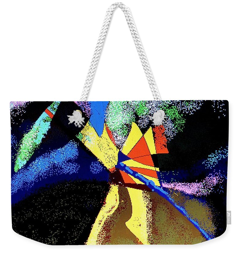Digital Drawing Weekender Tote Bag featuring the digital art Dragon Killer by Ian MacDonald