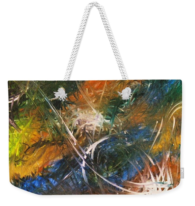 Dragon Weekender Tote Bag featuring the painting Dragon by Kim Rahal