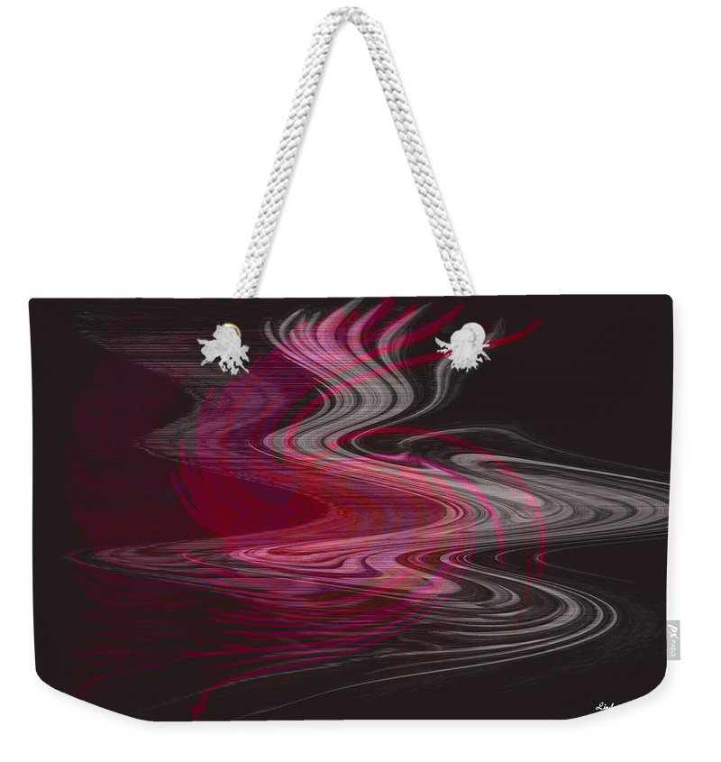 Abstract Weekender Tote Bag featuring the digital art Dragon Queen by Linda Sannuti