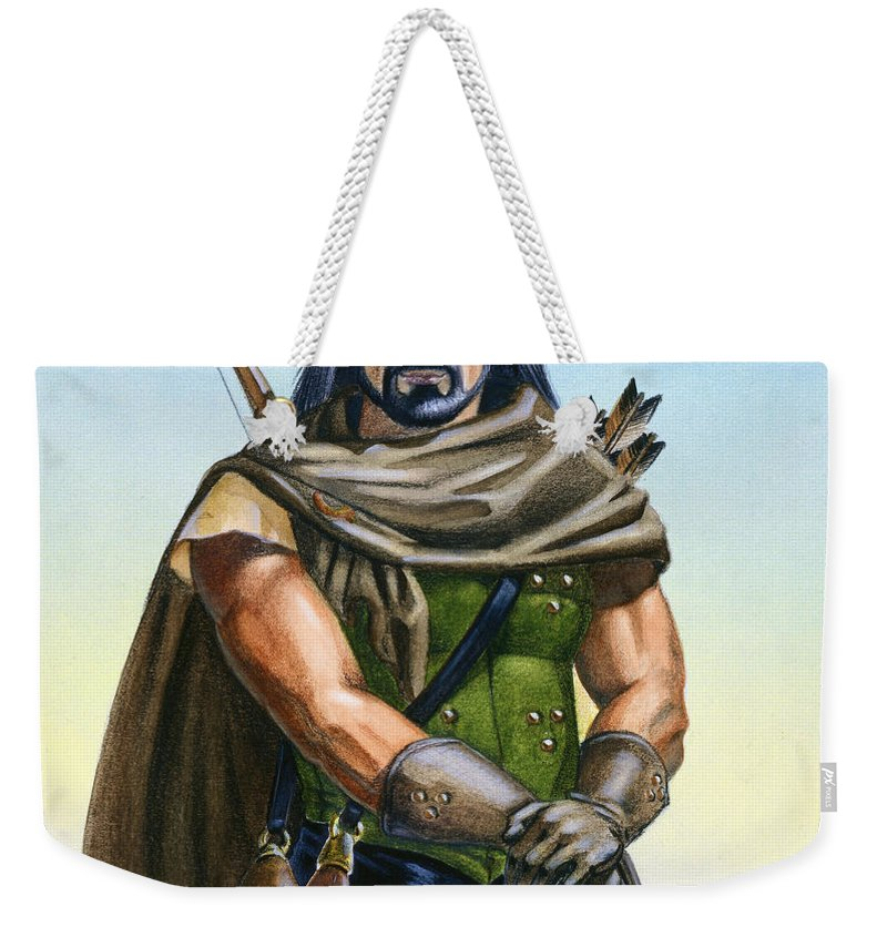 Ranger Weekender Tote Bag featuring the painting Dragon Tracker by Melissa A Benson