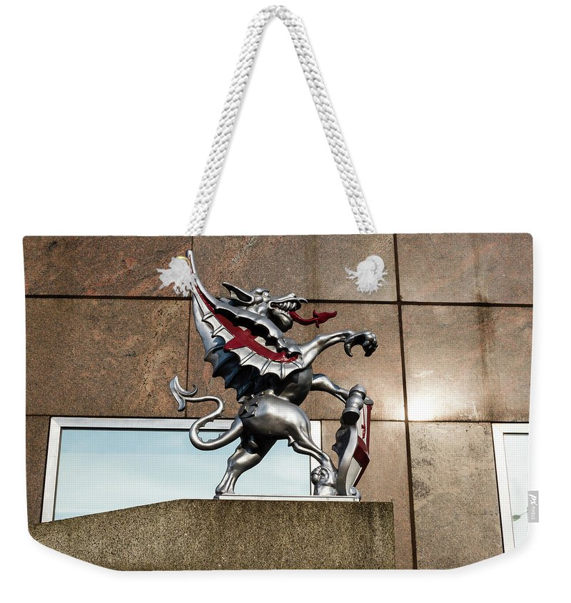 6x4 Weekender Tote Bag featuring the photograph Dragon With Red Cross by Jacek Wojnarowski