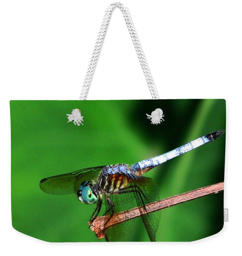 Dragonfly Weekender Tote Bag featuring the photograph Dragonfly 11 by J M Farris Photography
