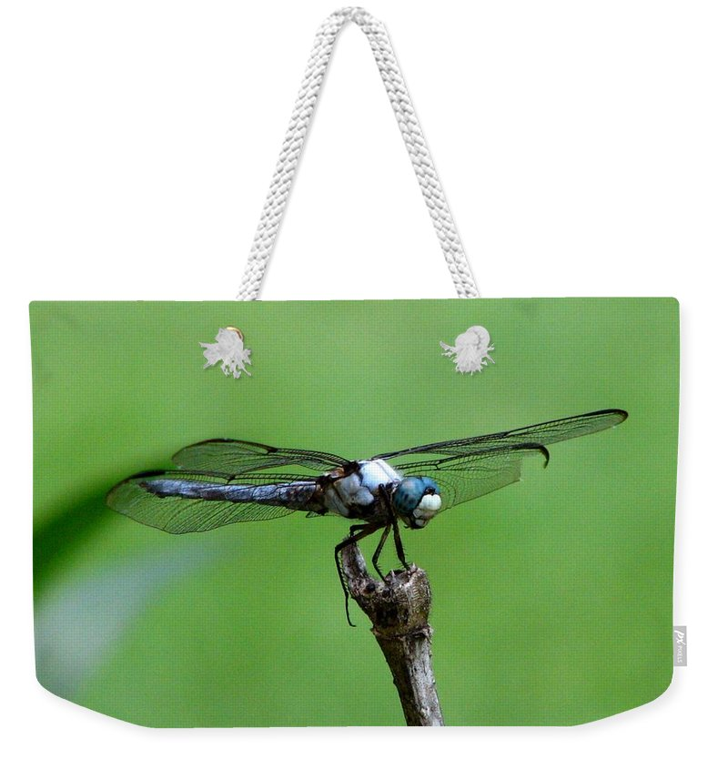 Dragonfly Weekender Tote Bag featuring the photograph Dragonfly 14 by J M Farris Photography