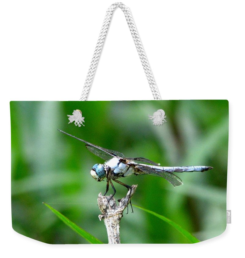Dragonfly Weekender Tote Bag featuring the photograph Dragonfly 15 by J M Farris Photography