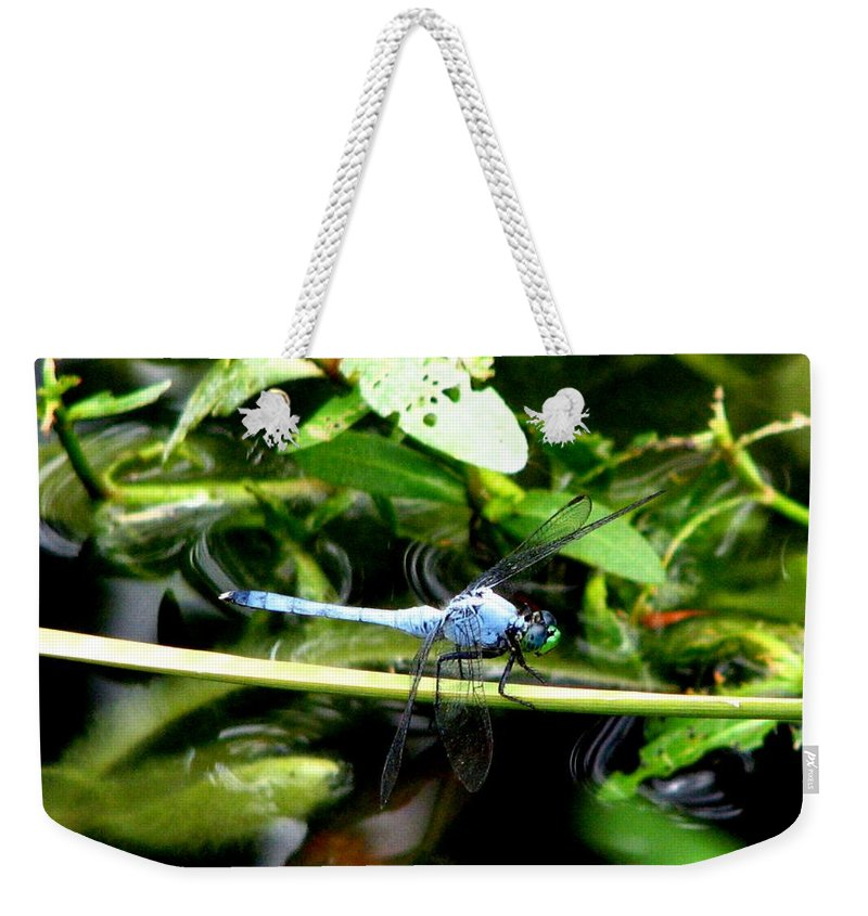 Dragonfly Weekender Tote Bag featuring the photograph Dragonfly 9 by J M Farris Photography