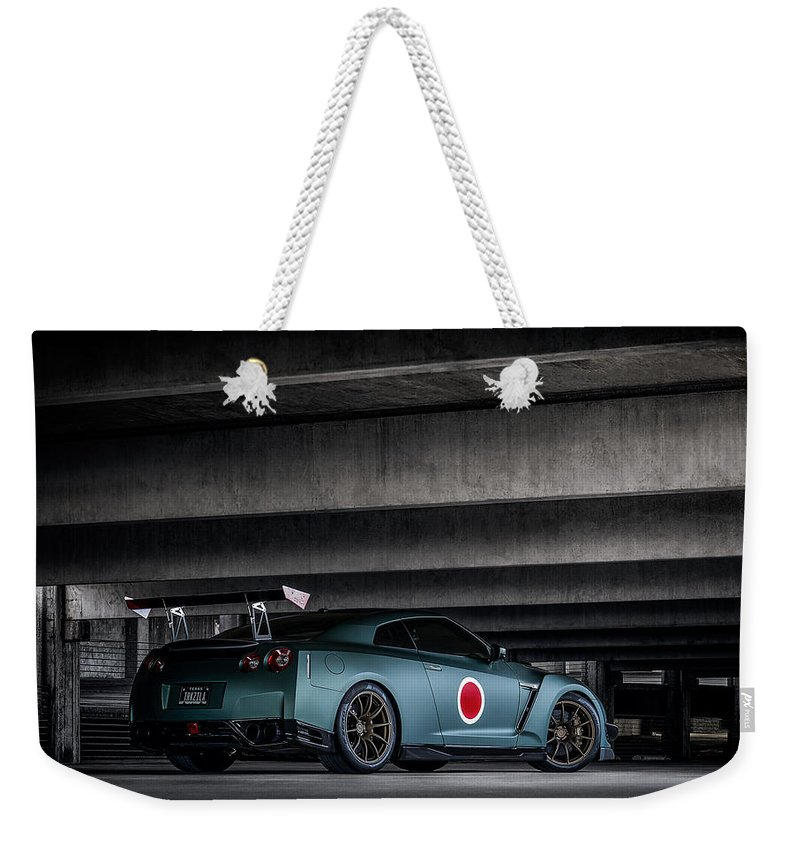 Gtr Weekender Tote Bag featuring the digital art Dragon's Lair by Douglas Pittman