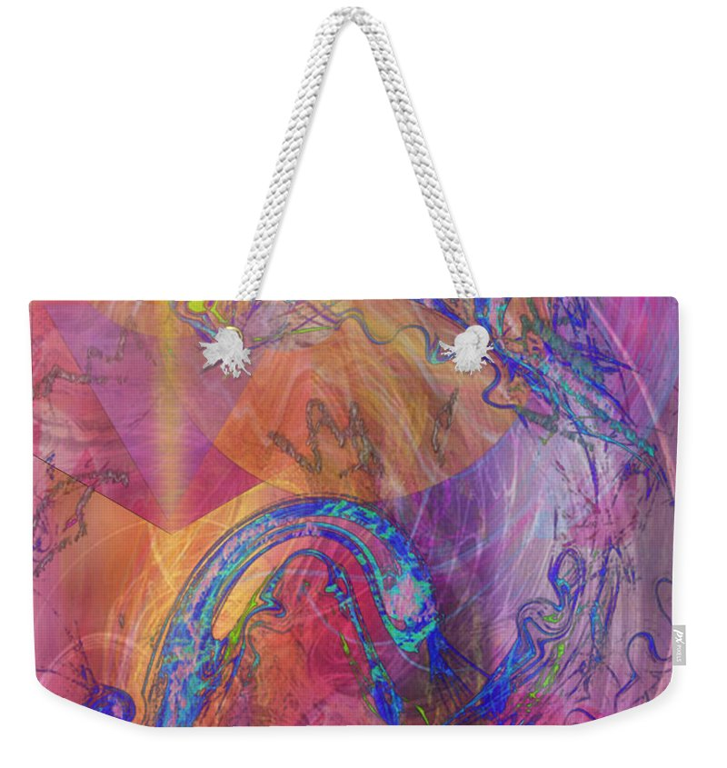 Dragon's Tale Weekender Tote Bag featuring the digital art Dragon's Tale by John Beck