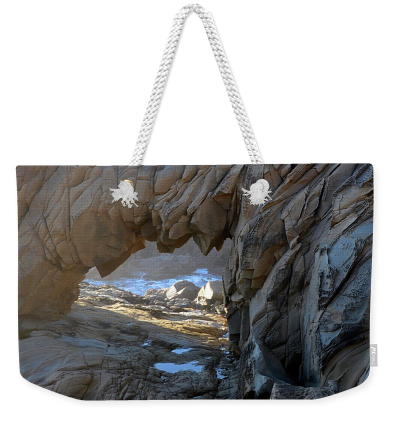 Arch Weekender Tote Bag featuring the photograph Dragons Teeth Salt Point California by Bob Christopher