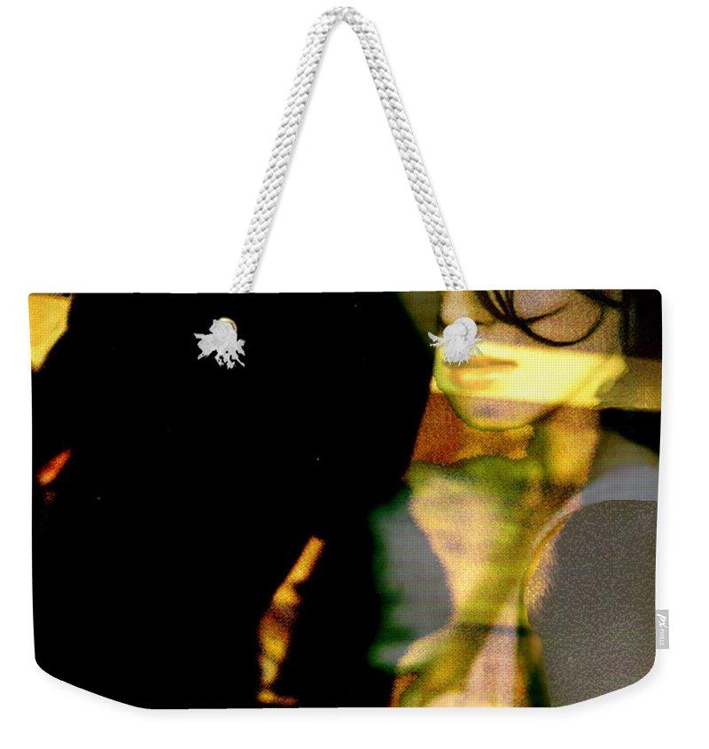 Mystery Weekender Tote Bag featuring the digital art Drama After Dark by Seth Weaver