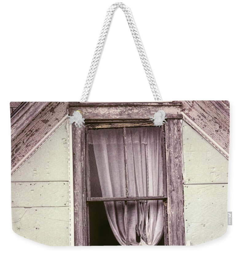 Abandoned House Weekender Tote Bag featuring the photograph Drapes by William Tasker