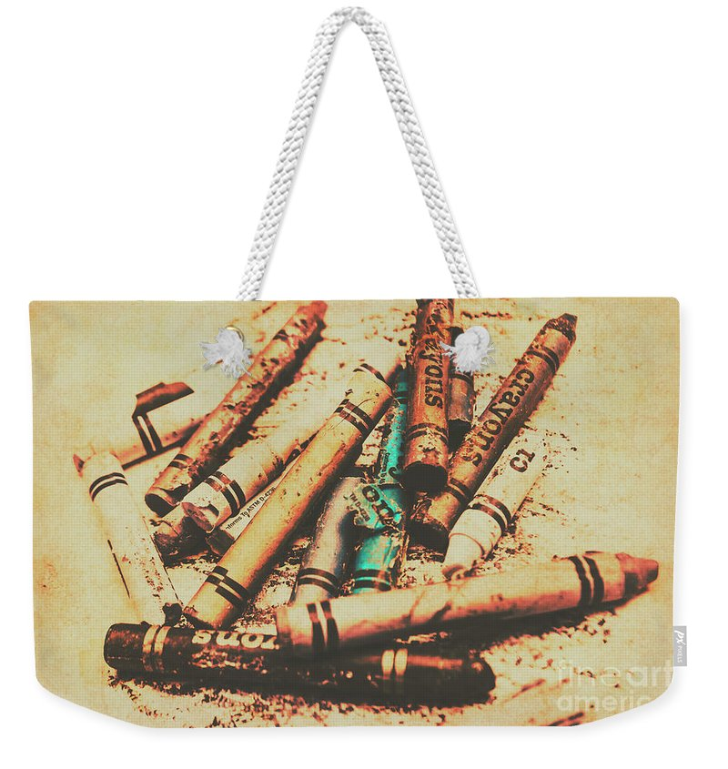 Vintage Weekender Tote Bag featuring the photograph Draw Of Vintage Art by Jorgo Photography - Wall Art Gallery