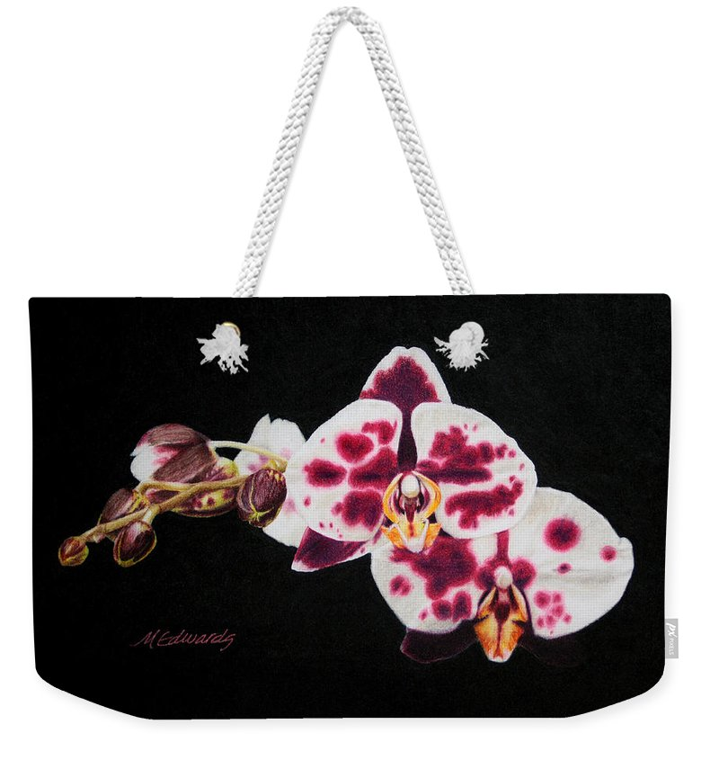 Color Pencil Weekender Tote Bag featuring the drawing Drawing Of Polka Dot Moths by Marna Edwards Flavell