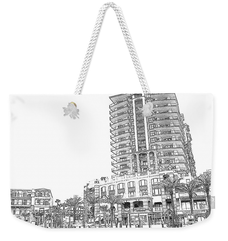 Drawing Weekender Tote Bag featuring the photograph Drawing The Building by Michelle Powell