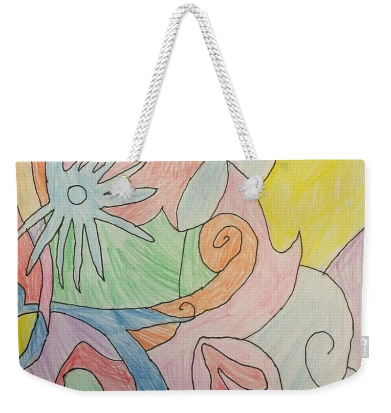 Abstract Weekender Tote Bag featuring the drawing Dream 1 by Jonathan Rispoli