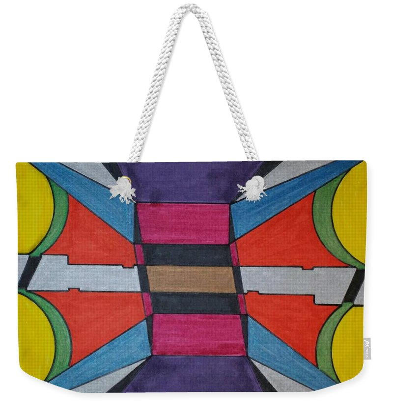 Geometric Art Weekender Tote Bag featuring the glass art Dream 119 by S S-ray