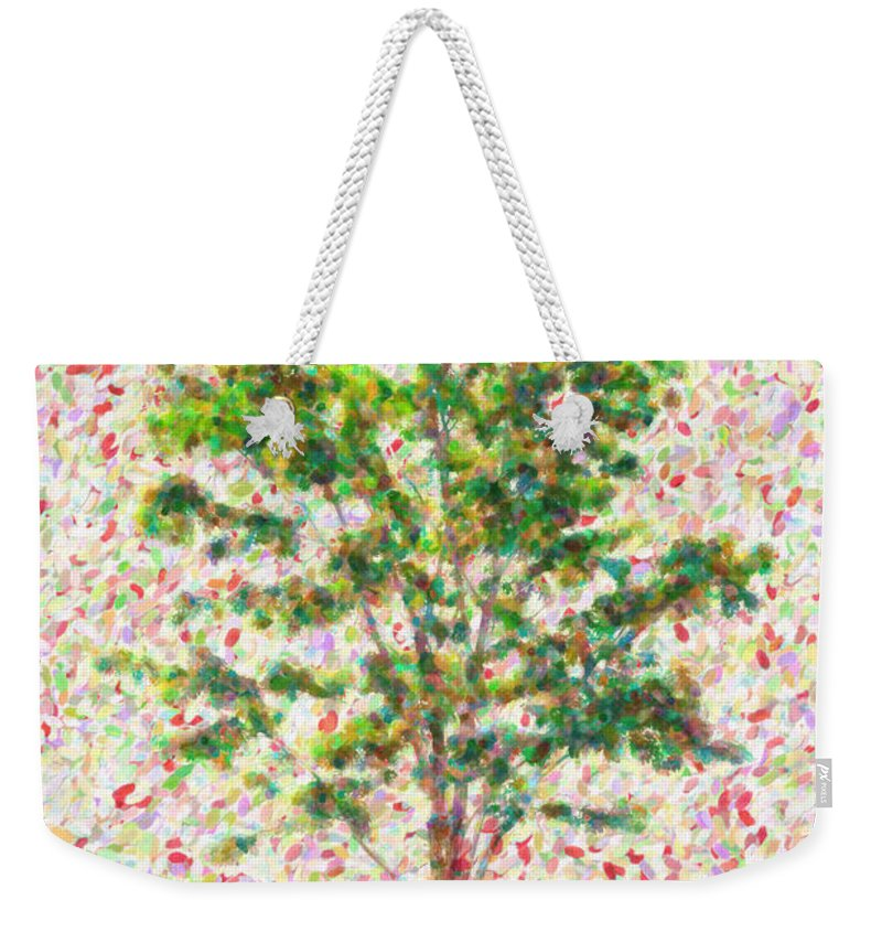 Tree Weekender Tote Bag featuring the painting Dream Argument by Zapista Zapista