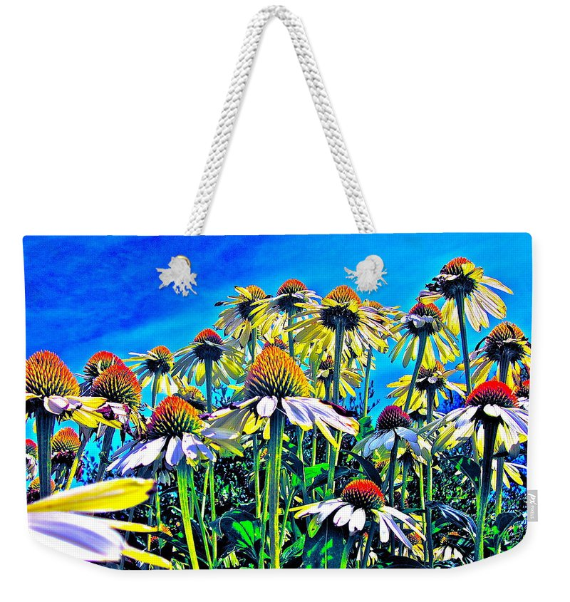 Photograph Of Field Of Flowers Weekender Tote Bag featuring the photograph Dream Field by Gwyn Newcombe