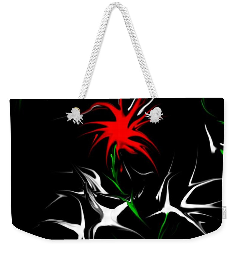 Abstract Weekender Tote Bag featuring the digital art Dream Garden II by David Lane