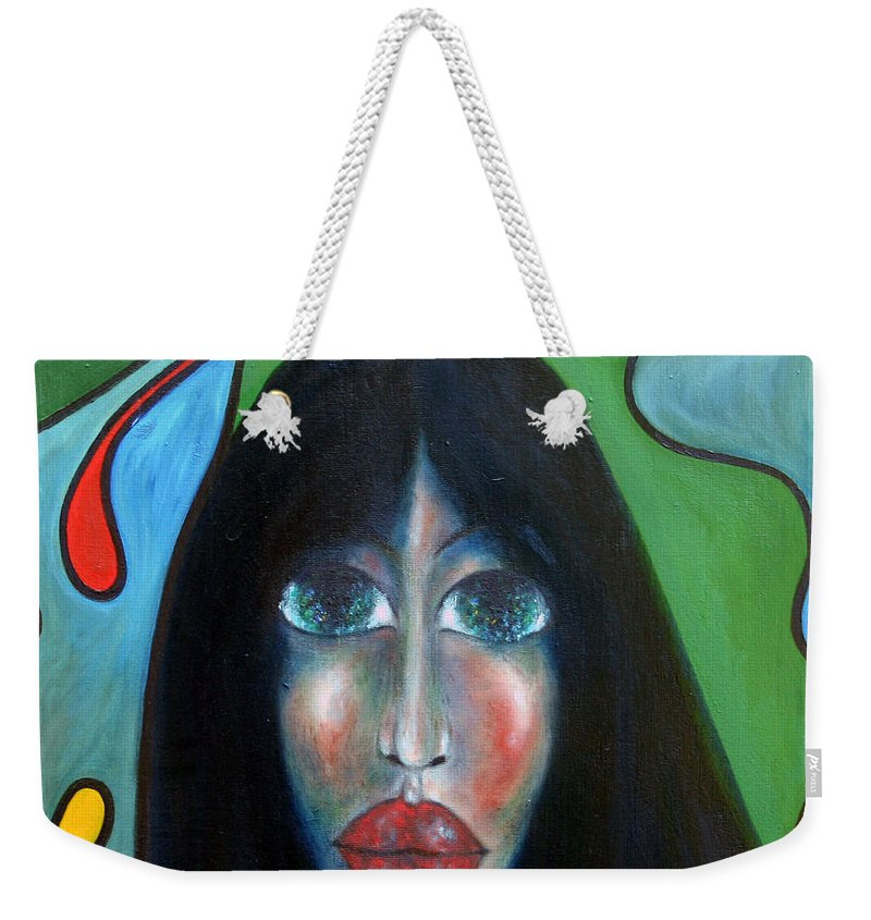 Colour Weekender Tote Bag featuring the painting Dream II by Wojtek Kowalski