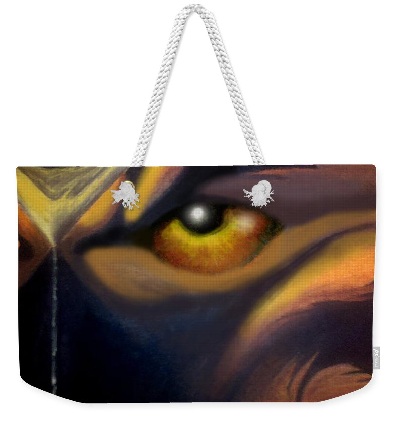 Dream Weekender Tote Bag featuring the painting Dream Image 2 by Kevin Middleton
