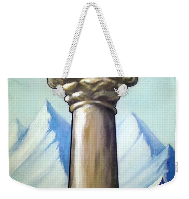Dream Weekender Tote Bag featuring the painting Dream Image 6 by Kevin Middleton