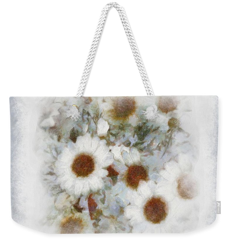 Daisies Weekender Tote Bag featuring the painting Dream Of Marguerite by RC DeWinter