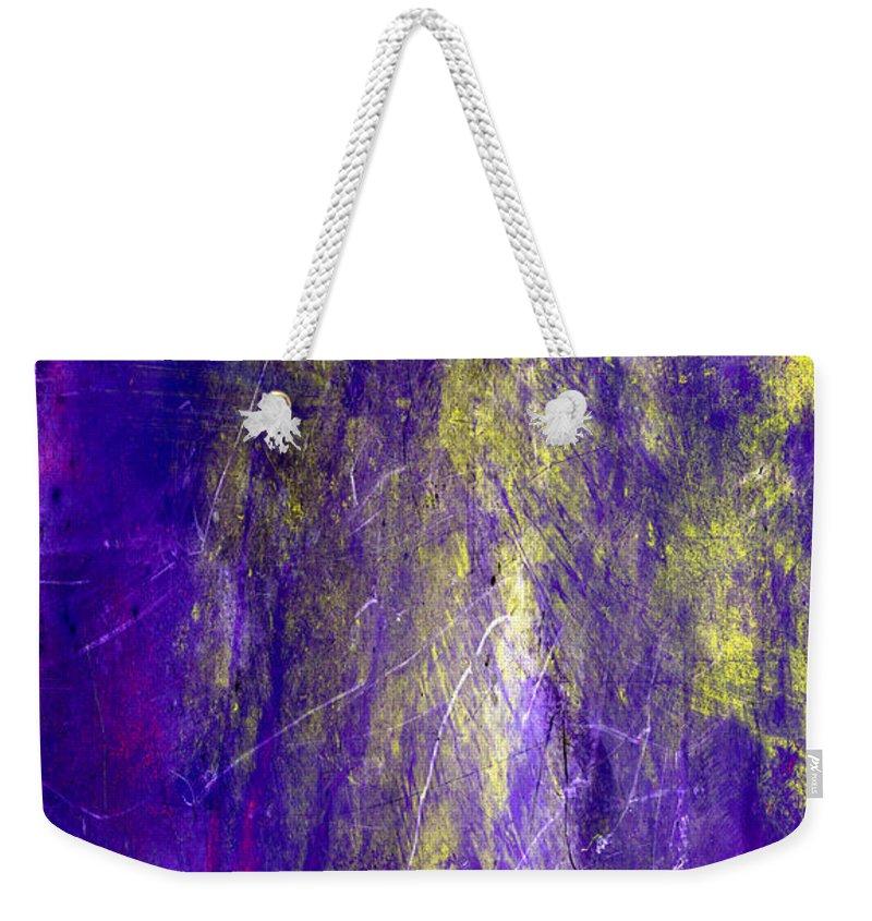 Purple Weekender Tote Bag featuring the painting Dream State by Julie Niemela