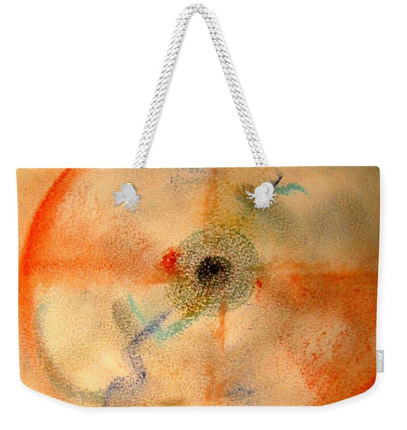 Dreamcatcher Weekender Tote Bag featuring the pastel Dreamcatcher by Dawn Richerson