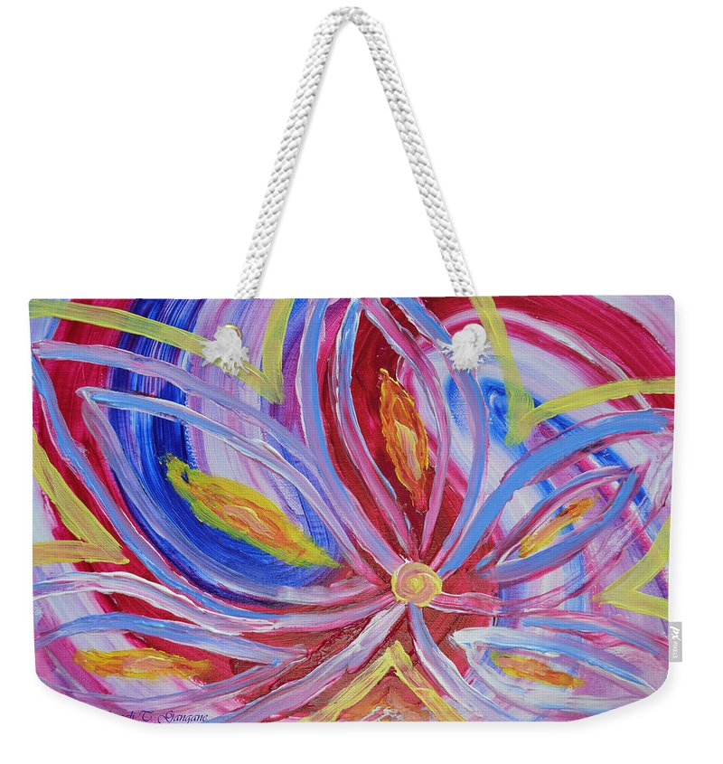 Art For Home Weekender Tote Bag featuring the painting Dreamflower by Sonali Gangane