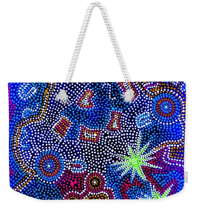 Art Weekender Tote Bag featuring the painting Dreaming 1 by Angie Wright