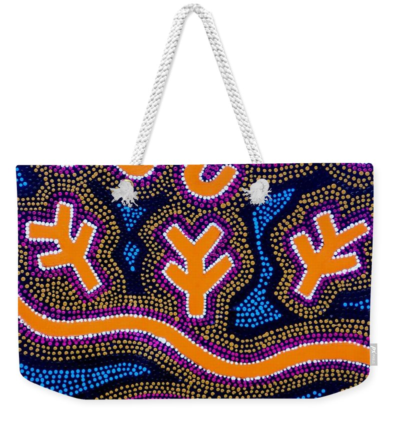 Art Weekender Tote Bag featuring the painting Dreaming 2 by Angie Wright