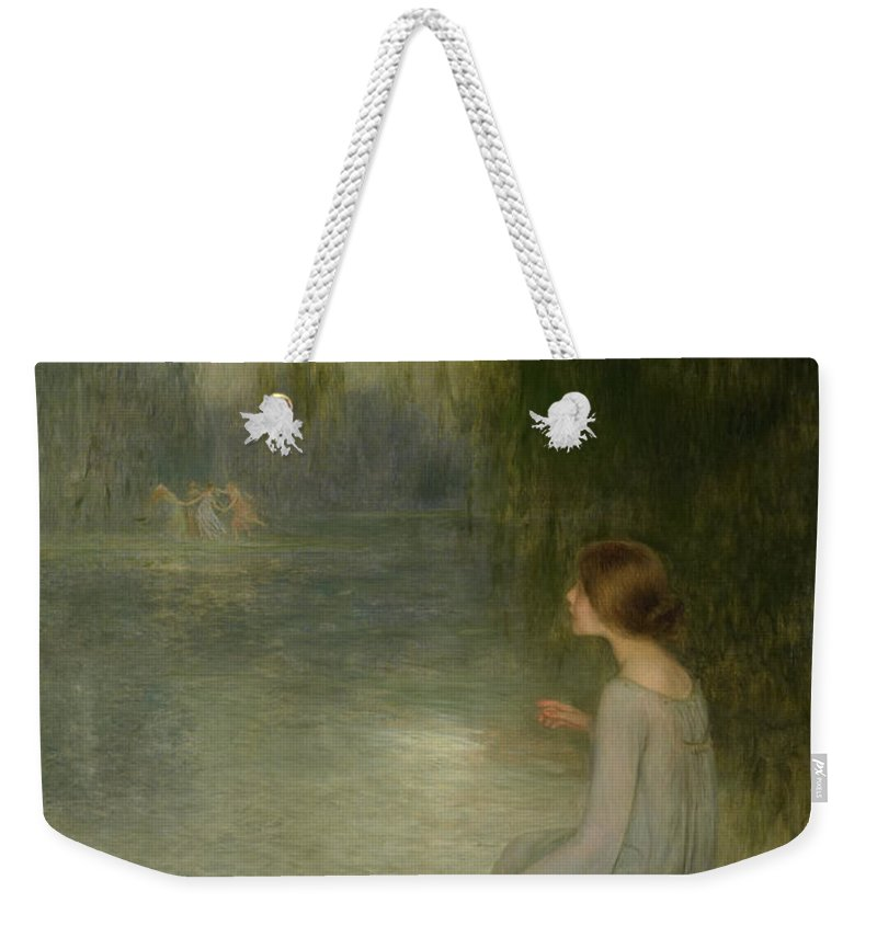 Joan Weekender Tote Bag featuring the painting Dreaming by Joan Brull