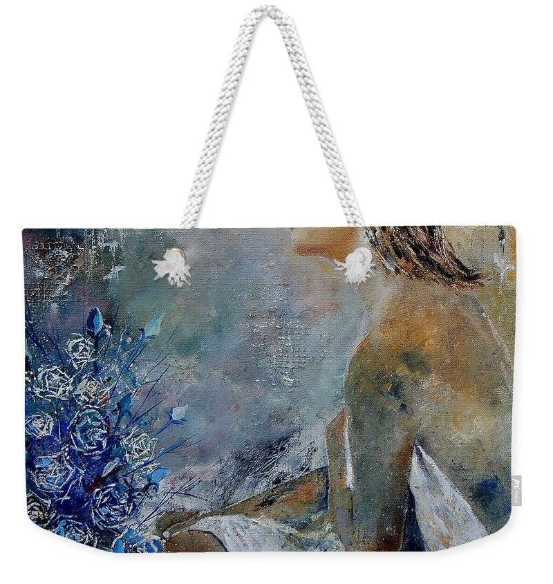 Girl Weekender Tote Bag featuring the painting Dreaming Young Girl by Pol Ledent