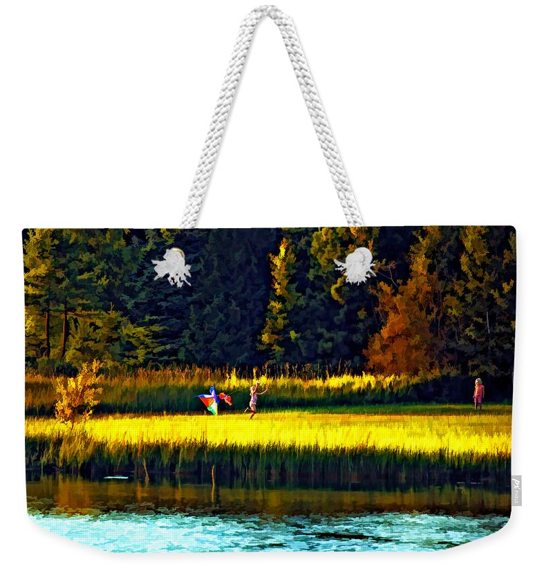 Kids Weekender Tote Bag featuring the photograph Dreams Can Fly Paint by Steve Harrington