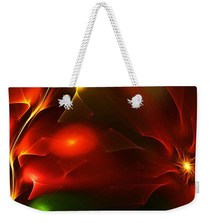 Digital Painting Weekender Tote Bag featuring the digital art Dreams Of Christmas Past by David Lane