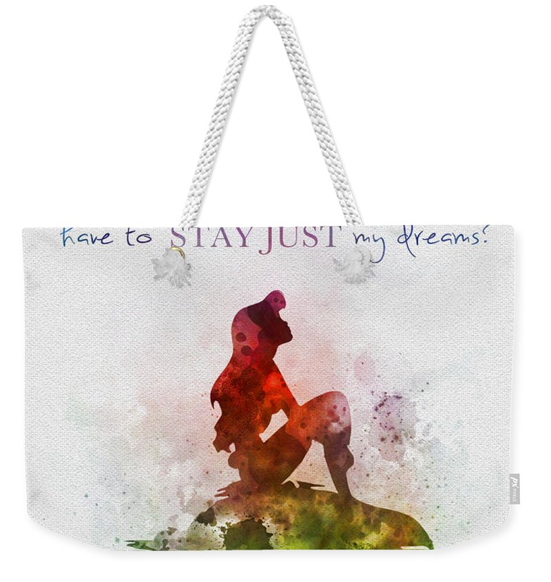 The Little Mermaid Weekender Tote Bag featuring the mixed media Dreams by Rebecca Jenkins