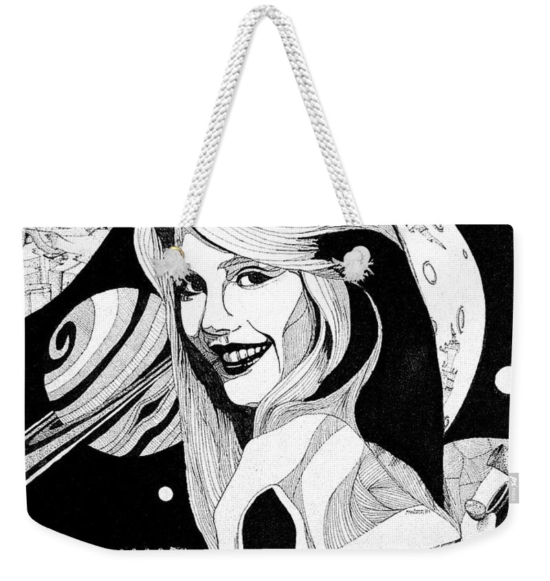 Woman Weekender Tote Bag featuring the drawing Dreams by Shaun McNicholas
